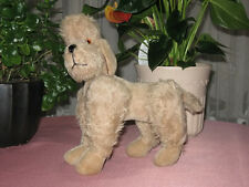 Antique Anker or Grisly Germany 1950s Mohair Poodle Dog Rare