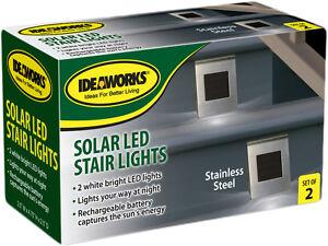 2 pcs Solar Powered LED Light Path Step Stair light Fence Garden Lamp lighting