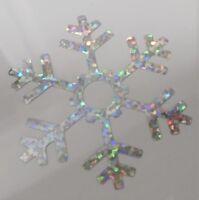 3 x FLOCON - ETOILE DE NEIGE HOLOGRAPHIQUE thermocollant hotfix 5 cm