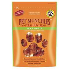PET MUNCHIES Premium Natural DUCK TWISTS Rawhide Dog Puppy Healthy Treats Chews