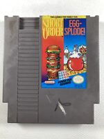 Short Order/Egg-Splode Game for Nintendo NES - Cartridge Only