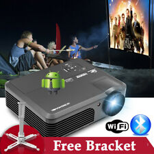 Android Wifi Home Theater Projector 7000:1 Blue-tooth Movie 1080P Hdmi Usb&Stand