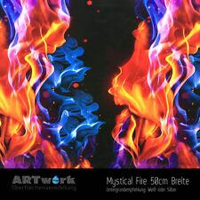 Wassertransferdruck Folie Folie Mystical Fire 1m x 50cm Breite