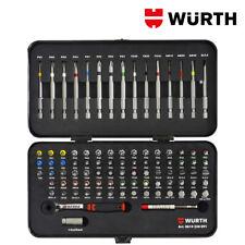 Inserti Avvitatore Lunghi e Corti 1/4 con Cricchetto Set 91pz - WÜRTH 0614250091