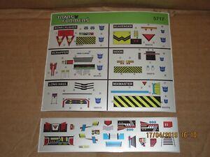 Transformers Premium quality replacement sticker/decal set for G1 Devastator