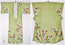 Antique Japanese Houmongi 訪問着 Formal Yuzen Silk Kimono Taisho Era