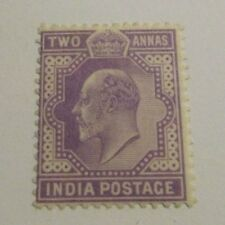INDIA Scott #63 * mint hinged, Two Annas,  just fine + 102 card