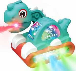 Dinosaur Musical Toys for Toddlers Walking Sound Mist Spray Flashing Lights Toy