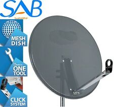 1M Mesh High Quality Satellite Dish & Pole Fittings 100CM Hotbird Astra Freesat