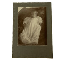 Antique Cabinet Card Photograph Victorian Sweet Little Baby