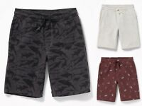 NWT Old Navy Boys Space-Dye Performance Go-Dry Active Pull-On Shorts 8 10 12 14