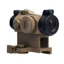 1x24mm Red Dot Sight with 12 Brightness Airsoft Sight Scope 20mm Rail Mount Tan