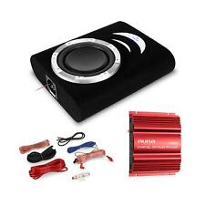TOP CAR HIFI SET AUTO SOUND BASSREFLEX ENDSTUFE SUBWOOFER KABEL LED EFFEKT 1000W