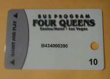 Four Queens Casino Las Vegas, Nv. Bus Pass # 10 Slot Card Great For Collection!
