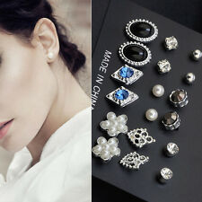 9 Pairs Fashion Women Jewelry Various Shape Styles Ear Stud Earrings Set Gifts