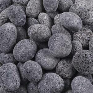 "Black Lava Pebble, Size: 30-50 "" 50 Bags Of 10 kg each"", 4 Sizes Available"