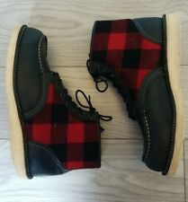 RED WING X WOOLRICH LUMBER JACK MOC TOE BOOTS 9001 UK 9 US 10