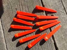 Plastic ORANGE WEDGE Golf TEES 6 doz indestructible the original back in stock
