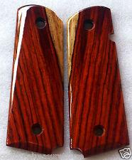 COLT 1911 GRIPS 4 COLT FULL SIZE KIMBER, LES BAER COCOBOLO ROOT K-1 NICE!!!