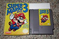 Super Mario Bros 3 (Nintendo Entertainment System NES 1990) w/ Box GOOD G H I