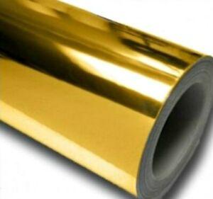 2m GOLD MIRROR VINYL sticker Roll foil sign making art 610mm CRAFT