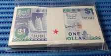 A/1 Singapore Ship Series $1 Note A/1 611001 - 611100 Run Stack Dollar Currency