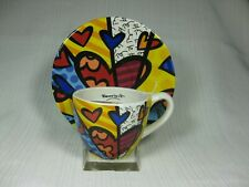 Britto 2013 A New Day Cup and Saucer Set #14072 by Giftcraft No Box