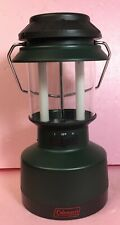 Vintage Green Coleman Rechargeable Lantern Florescent Bulbs Car / Wall Charger