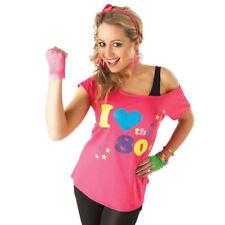 I Love 80's T-Shirt Womens Costume Fancy Dress 1980s 80s Top Shirt