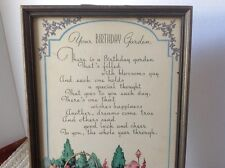 "Motto Poem Print, ""Your Birthday Garden"" A great gift instead of a card!"