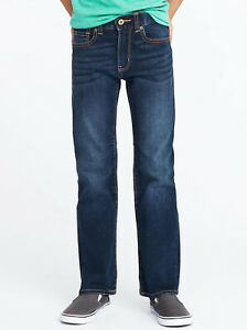 Old Navy Boys Built-In-Flex Straight Dark Wash Jeans Size 7 Slim, 8 or 10