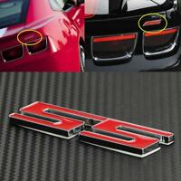 SS Word letter 3D Chrome metal Car Sticker Emblem Badge Decal Auto Decor New Red