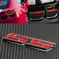 Red Car Side Metal SS Logo Emblem Badge Sticker Decal for Chevrolet 3D Design