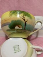 Set Of 5 Noritake Tree In The Meadow Teacups (No Saucers)