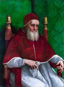 Raphael, Pope Julius II, 1511, Art Poster, Christian Museum Canvas Print