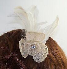 Prom, Wedding / Ladies Day Mesh Flower & Diamante Fascinator on Clip & Pin