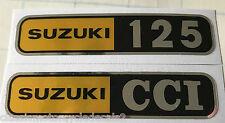 SUZUKI T125 STINGER SIDE PANEL DECALS X 2