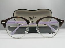 Ray-Ban RB 4246-V 5240 Clubround Havana/Lavender New Eyeglasses 47mm w/Case