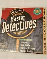 Old Time Radio Master Detectives 10 Cassettes 10 Hours