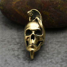 Solid Brass Skull Lizard  Necklace Pendant Keychain Pendants