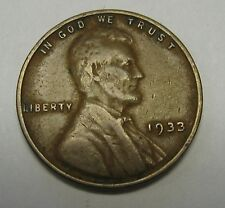 1933 Lincoln Wheat Cent in Average Circulated Condition    DUTCH AUCTION