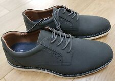 BNWT Mens M&S Brogue Detail Lace BOAT Shoes Moulded Footbed SIZE UK 10 - Grey