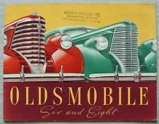 Oldsmobile seis & ocho folleto de ventas de coche club 1938 Coupé Convertible + SEDAN