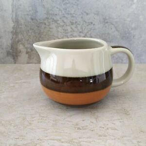 Retro Rorstrand Annika Small Jug 225mls Sweden Brown Orange Stripe 1972-1981