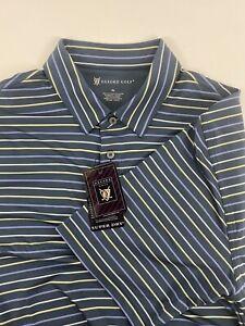 Oxford Golf men's XL 100% cotton Multicolored Striped short sleeve Shirt