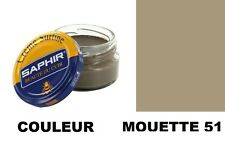 CIRAGE CUIR CHAUSSURE POMMADIER creme surfine GRIS MOUETTE 51 SAPHIR