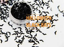 USA HALOWEEN HOLOGRAPHIC BLACK BAT Sequins Glitter BLACK BATS Nail art Crafts