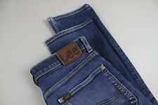 LEE BLAKE Men's W32 L31 Straight Stretchy Fade Effect Blue Jeans 17587/JS
