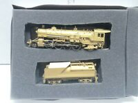 Vintage HO Scale BRASS 2-8-2 Steam Locomotive & Tender - Unpainted