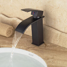 Bathroom Basin Faucet Waterfall Spout Vanity Sink Mixer Tap Deck Mounted11111